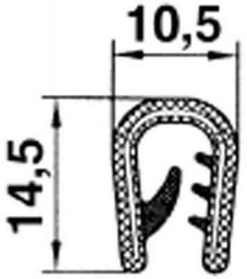 Kantenschutzprofil  aus PVC mit Metalleinlage