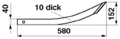 Greiferzinke L=580 mm