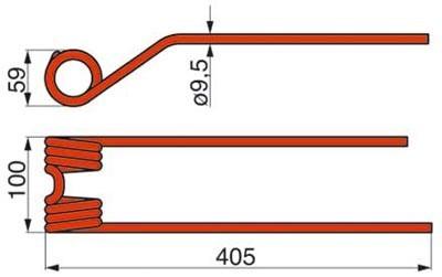 Kreiselheuerzinke rechts 9024822 zu Claas