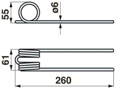 Bandrechwenderzinke zu SIP 260 mm