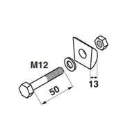 Claas Zinkenhalter komplett M 12 x 50 mm