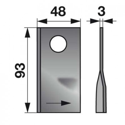 Kreiselmäherklingen links 151386.0   zu Krone Scheibenmäher