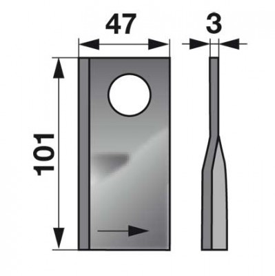 Kreiselmäherklingen rechts T683R zu Mörtel Scheibenmäher