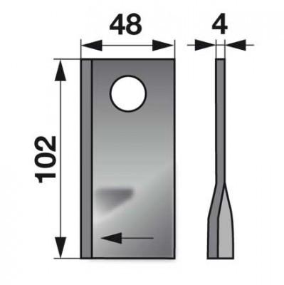 Kreiselmäherklingen rechts 570446 zu Niemeyer Scheibenmäher