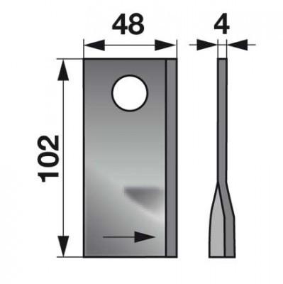 Kreiselmäherklingen links 570447 zu Niemeyer Scheibenmäher