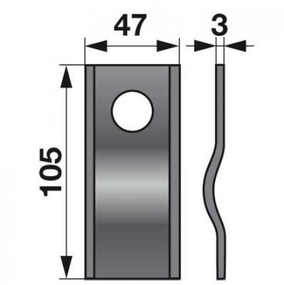 Kreiselmäherklingen 143237.0 zu Krone Scheibenmäher