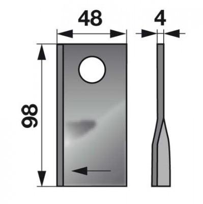 Kreiselmäherklingen rechts 153171419 zu Sip Scheibenmäher