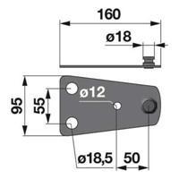 Messerhalter 950951.0 zu Claas Trommelmäher