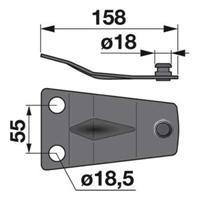 Messerhalter 921065.2 zu Claas Trommelmäher