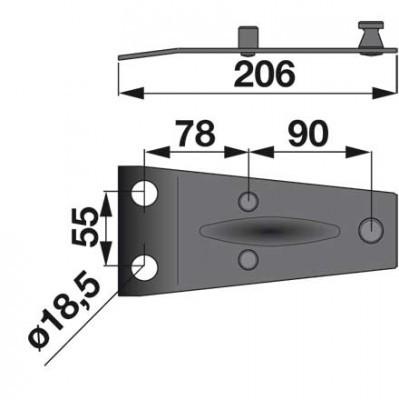 Messerhalter 06563514 zu Pöttinger Trommelmäher