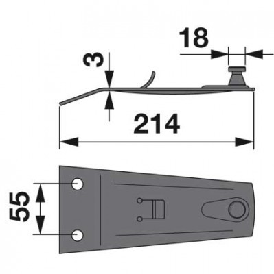 Messerhalter 16500771 zu Deutz-Fahr Trommelmäher