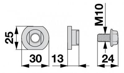 Messerhalteschraube 06561225 zu Deutz-Fahr Scheibenmäher