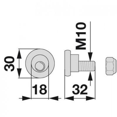 Messerhalteschraube 90081160K zu Deutz-Fahr Scheibenmäher