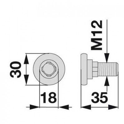 Messerhalteschraube 1374593 zu Deutz-Fahr Scheibenmäher