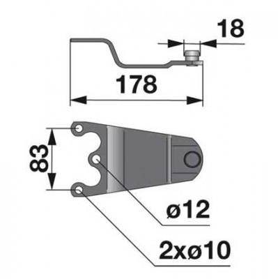 Messerhalter 011519 bei Antriebs-Mähtrommel zu Mörtl Scheibenmäher