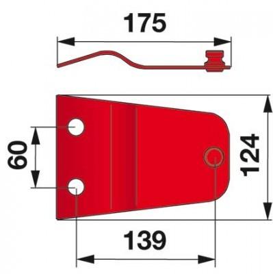 Messerhalter 570425 zu Niemeyer Trommelmäher