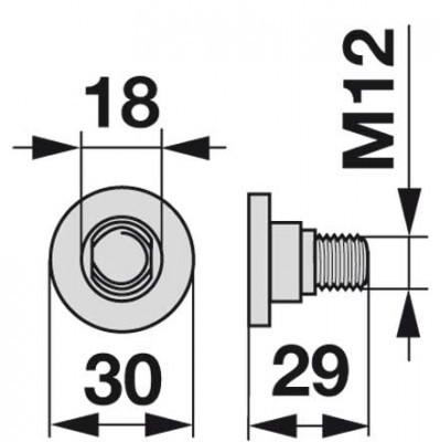 Messerhalteschraube 952346.2 zu Claas Scheibenmäher