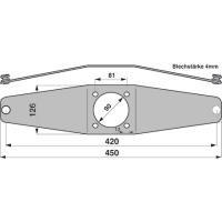 Messerhalter PZ086 zu Vicon-PZ Trommelmäher