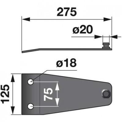 Messerhalter 143298.0 zu Krone Scheibenmäher