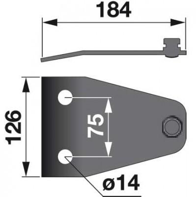 Messerhalter TF0288K0 zu Vicon-PZ Trommelmäher