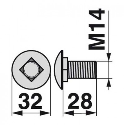 Flachrundschraube 104494.0 zu Claas Trommelmäher
