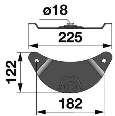Messerhalter 145623.6 zu Krone Scheibenmäher