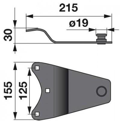 Messerhalter LF0242K0 zu Deutz-Fahr Trommelmäher