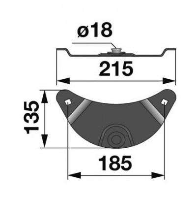 Messerhalter 139981.7 zu Krone Scheibenmäher