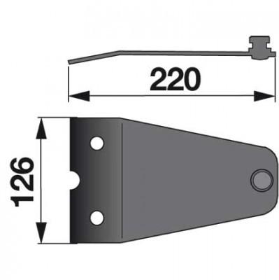 Messerhalter LF0242K0 zu Vicon-PZ Trommelmäher