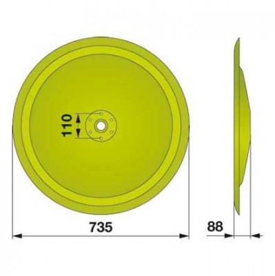 Gleitteller 947432.2 zu Claas Trommelmäher