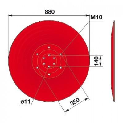 Gleitteller 06567399 zu Deutz-Fahr Trommelmäher