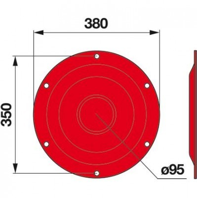 Stützteller 06567225 zu Deutz-Fahr Trommelmäher