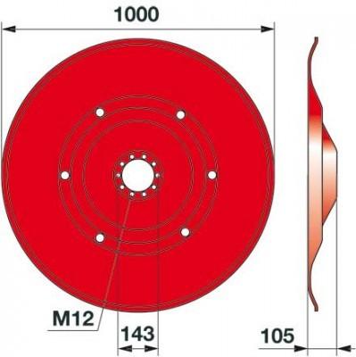 Gleitteller 06580818 zu Deutz-Fahr Trommelmäher