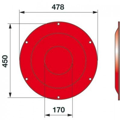 Stützteller 06580805 zu Deutz-Fahr Trommelmäher