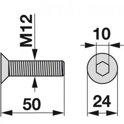 Senkkopfschraube 88.007.991.6.378 zu Deutz-Fahr Trommelmäher