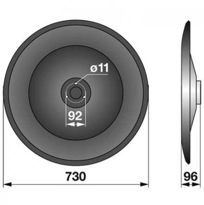 Gleitteller GT0332K0 zu Vicon-PZ Trommelmäher