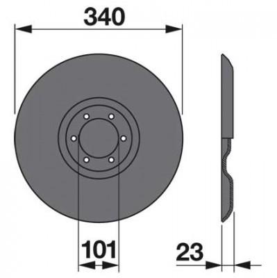 Gleitteller TF5K0 zu Deutz-Fahr Trommelmäher