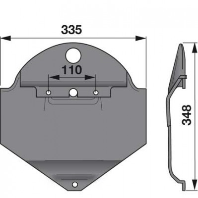Gleitkufe 19413457 zu Deutz-Fahr Scheibenmäher
