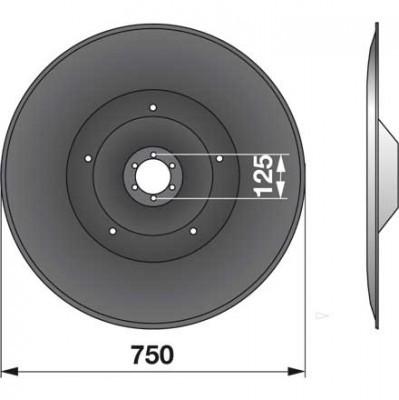 Gleitteller YD75K0 zu Deutz-Fahr Trommelmäher