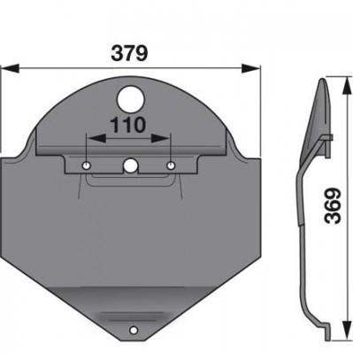 Gleitkufe 18613456 zu Deutz-Fahr Scheibenmäher