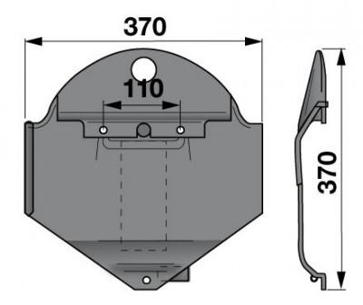 Gleitkufe links 1361586 zu Deutz-Fahr Scheibenmäher