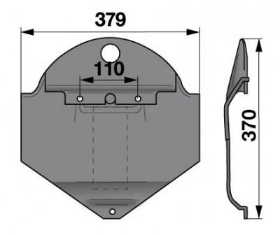 Gleitkufe zu 18613484 Deutz-Fahr Scheibenmäher