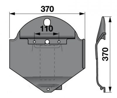 Gleitkufe rechts 1361686 zu Deutz-Fahr Scheibenmäher