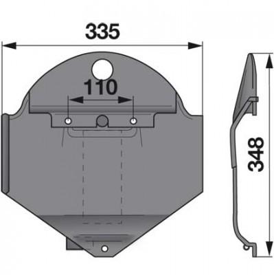 Gleitkufe links 1362286 zu Deutz-Fahr Scheibenmäher
