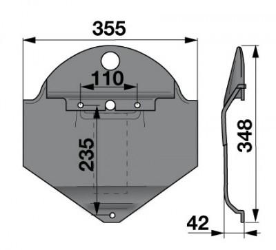 Gleitkufe 18613483 zu Deutz-Fahr Scheibenmäher