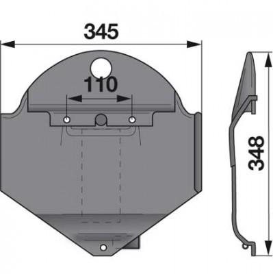Gleitkufe rechts 1362386 zu Deutz-Fahr Scheibenmäher