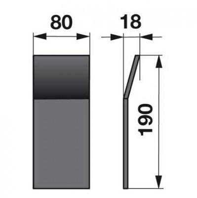 Aufschweißkufensatz 6x zu Deutz-Fahr Scheibenmäher