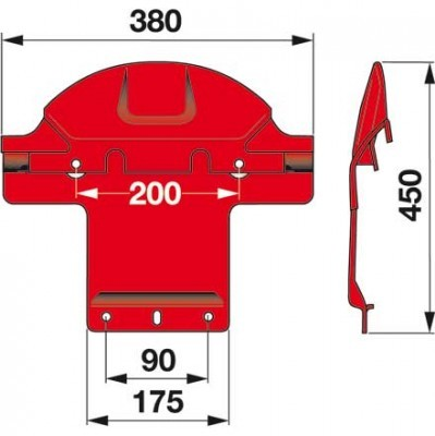 Gleitkufe 2520.1707.00 symetrisch zu Pöttinger Scheibenmäher