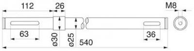 Antriebswelle 16500261 zu Deutz-Fahr vertikal