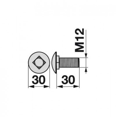 Flachrundschraube 01142791 zu Messerhalter Deutz-Fahr